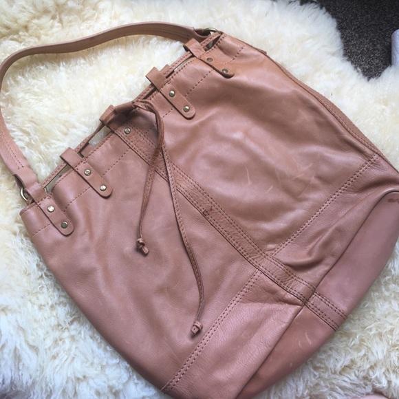 Lucky Brand Handbags - NEW Genuine Leather Large Drawstring Hobo Bucket